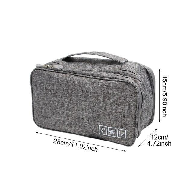 BUCHNIK Women Underwear Bags Portable Travel Compartment Wash Cosmetic Clothes Organizer Fashion Bra Storage Cases Accessories 1