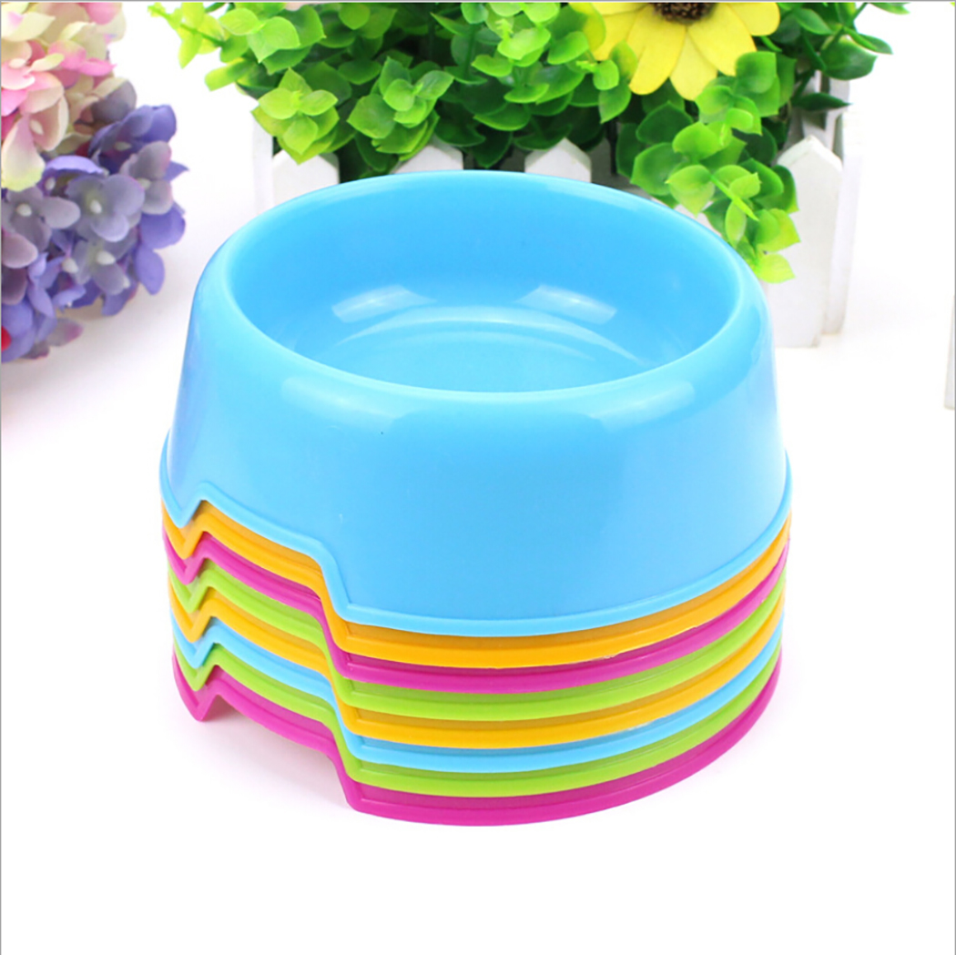 Safety Cute Multi-Purpose Candy Color Plastic Dog Bowls Feeding Water Food Puppy Feeder Cat Dog Bowls Pet Feeding Supplies