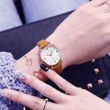 2019 Quartz Movement Ladies WristWatch 3cm Dial 14mm Imitation Leather Band Width Cute Gir