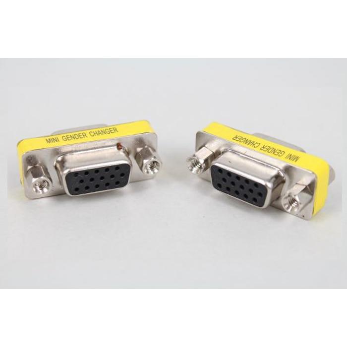LEORY 1 PCS 15 Pin HD DB15 VGA / SVGA Gender Changer Adaptor Mini VGA Female Head Converter Male NEW Male To Famale High