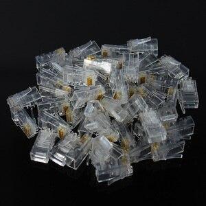 Image 5 - 20/50/100 шт. Cat6 Cat6e RJ45 Ethernet кабели, модуль, штекер, сетевой соединитель, с кристаллами, с золотым покрытием, сетевой кабель OULLX