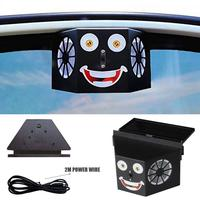 Solar Car Ventilation Fan Air Conditioner Fan Solar Powered Automatic Cooling Double Exhaust Vehicle Fan Car Accessories