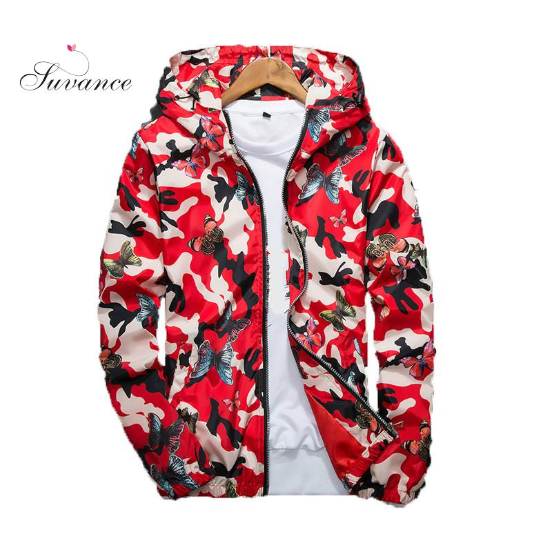 Suvacne Couples 2019 Camouflage Sunscreen Spring Autumn Hoodies Big Size S-3xl Women Coat Jl-Db520