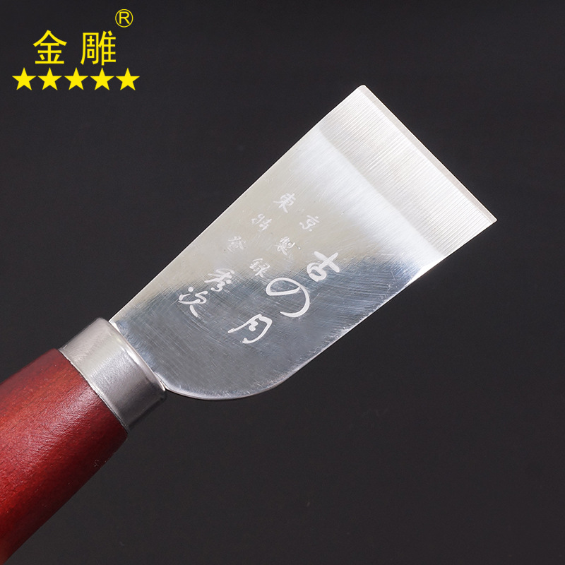 1pc DIY Leather Cut Tools Incision Craft Knife Copper Trimming Knife With Blade Leather Tool 35mm Width