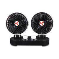 Car Fan 12V Dedicated Powerful Cooling Shaking Head Mini Silent Car Electric Fan