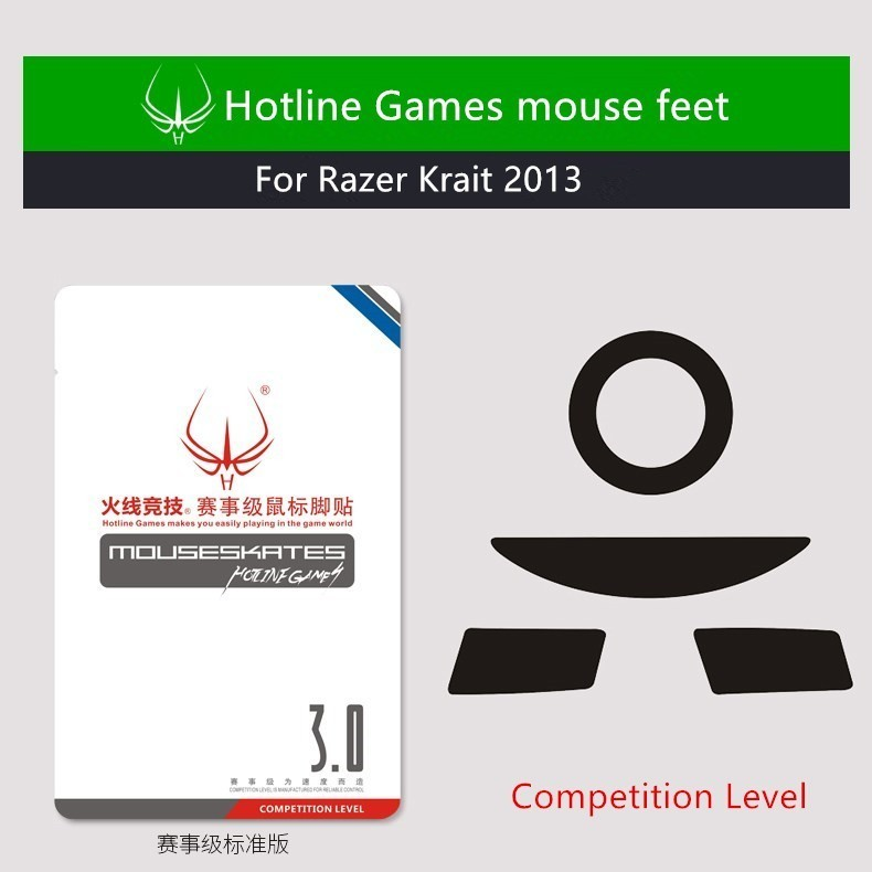 New Arrival 1 pack Hotline Games competition level mouse skates mouse feet for Razer Krait 2013 Teflon mouse glide image