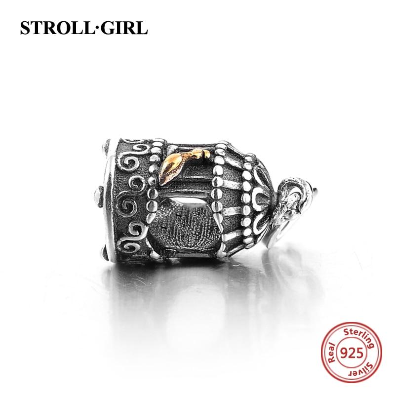 100% Sterling Gümüş 925 Şirin Quş Qəfəs Muncuqları Orijinal - Gözəl zərgərlik - Fotoqrafiya 2