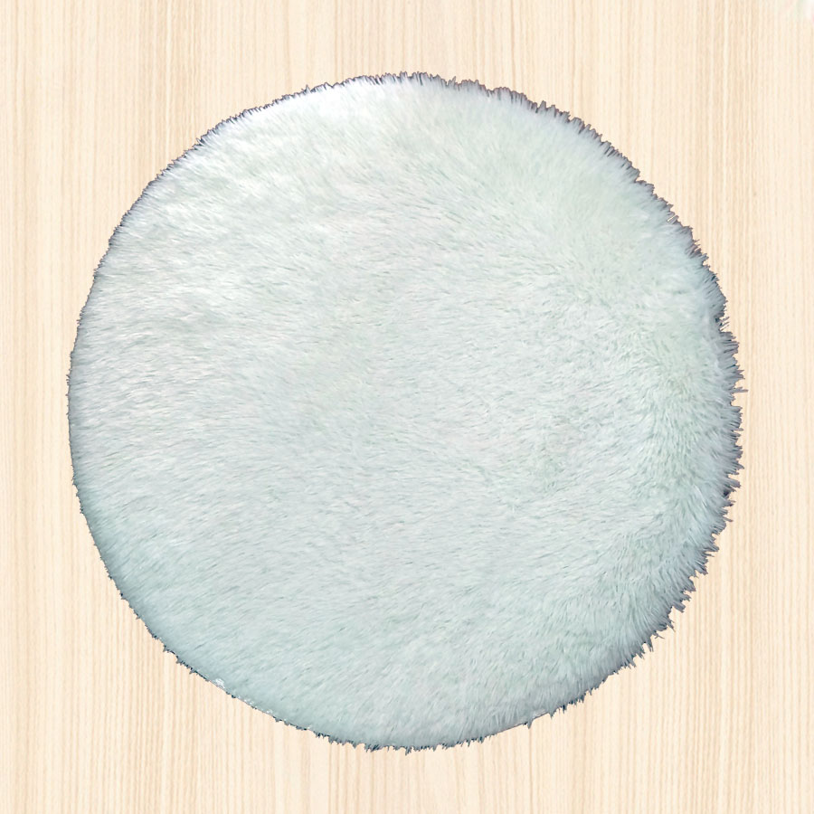Round Fluffy Faux Fur Rug Carpet Shaggy White Grey Pink