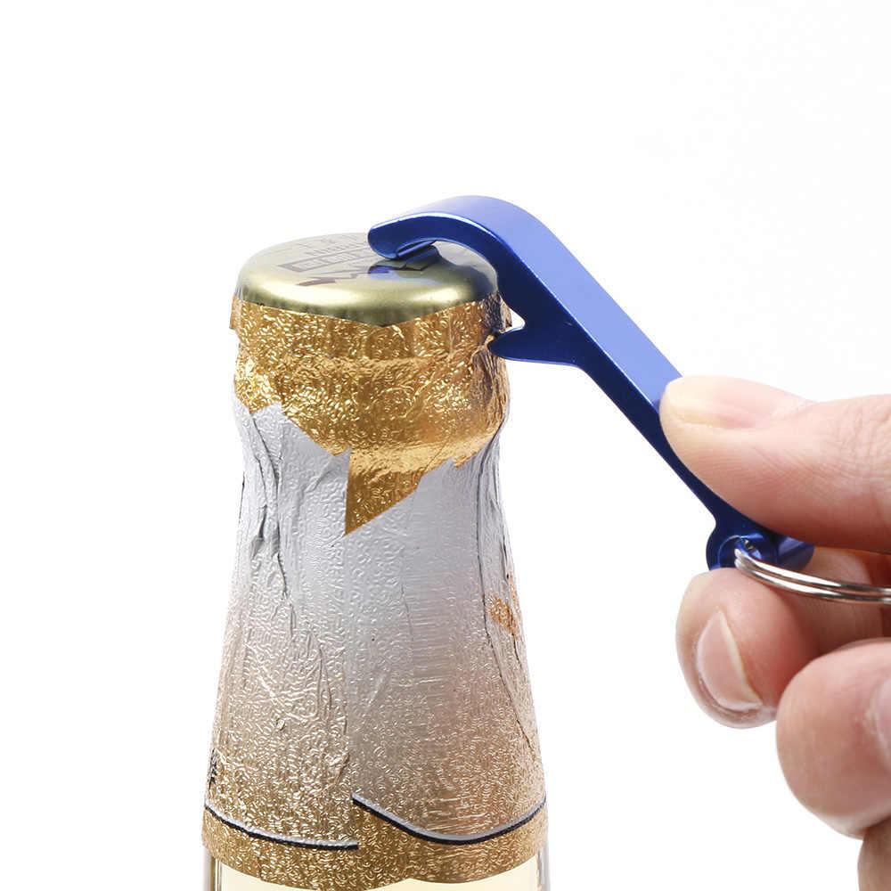 ポータブル 4 1 ボトルオープナーキーホルダービールでオープナーココナッツオープナービールバーツールハンディ蓋結婚式の好意とギフトドロップ無料