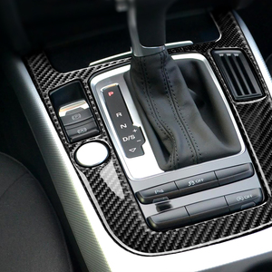 Image 5 - For Audi A4L A5 2009 2010 2011 2012 2013 2014 2015 2016 / Q5 2010   2018 Carbon Fiber Center Console Gear Shift Panel Cover