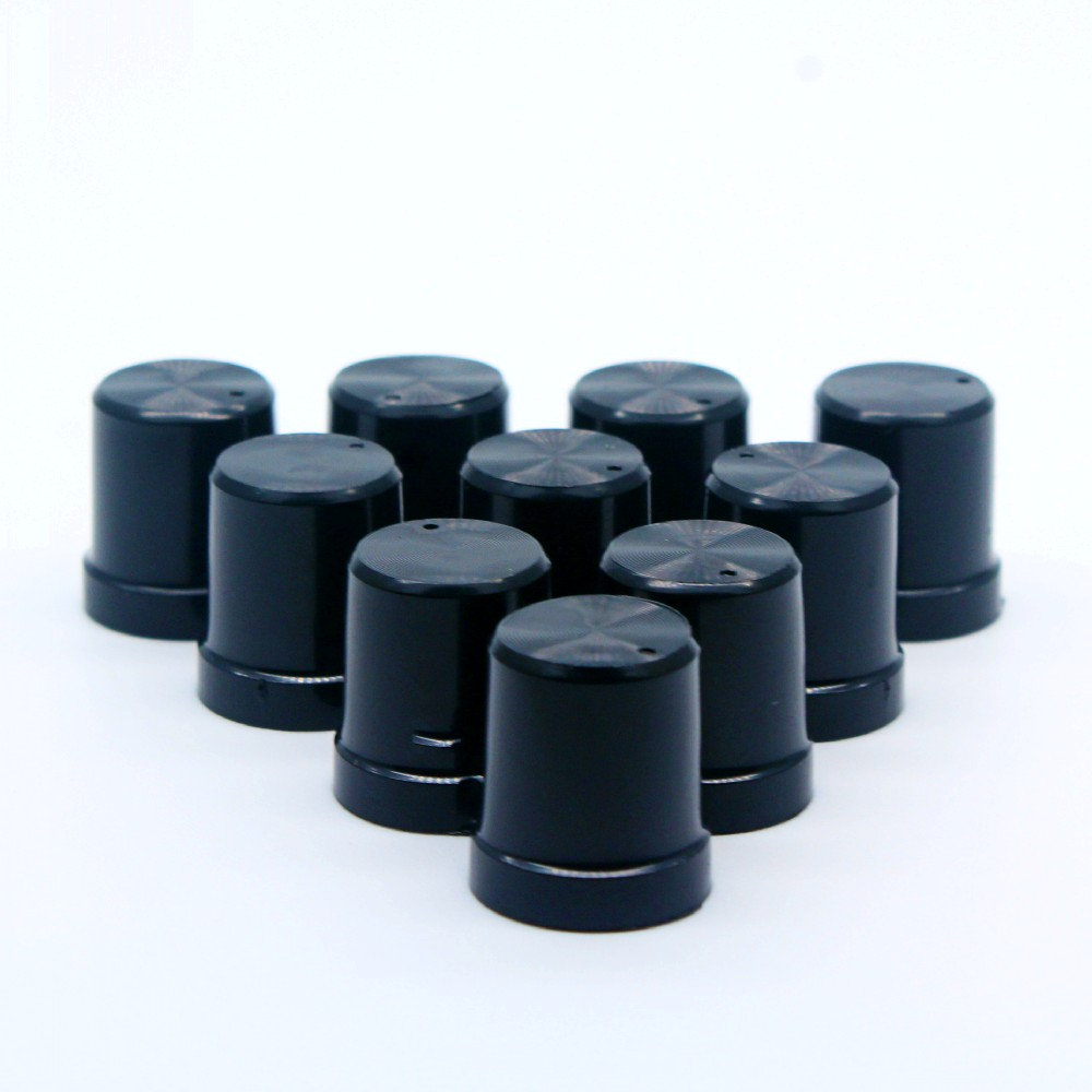 10Pcs 6mm Shaft Hole Plastic Potentiometer Knobs Encoder Knob