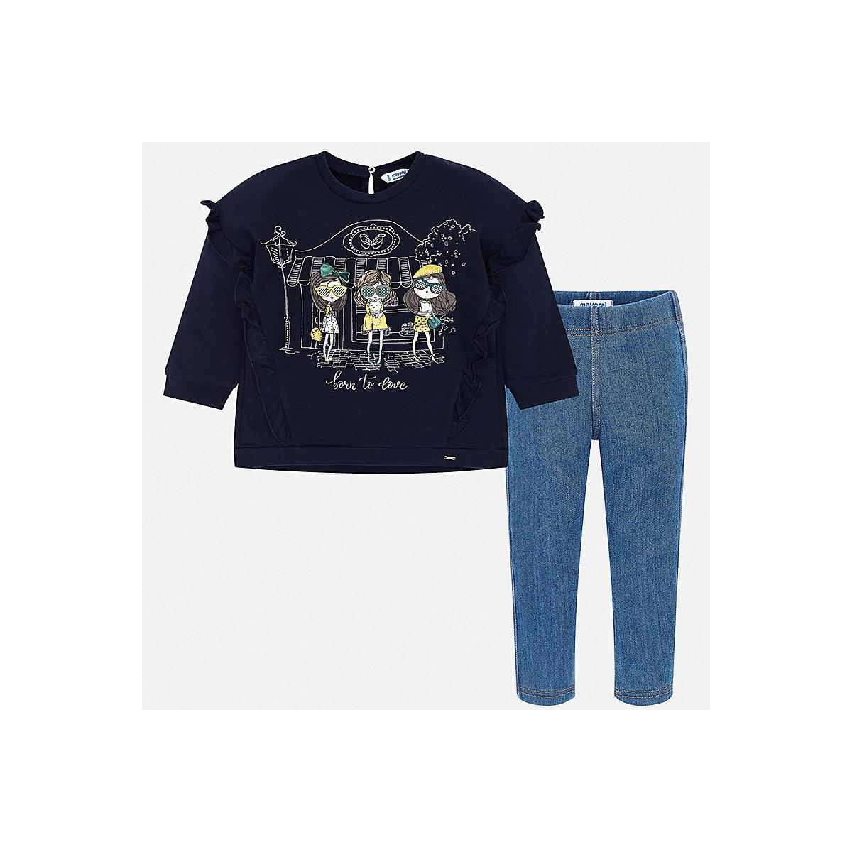 MAYORAL Children's Sets 8848783 Cotton Girls Fashion clothing costume for girl leggings T-shirt