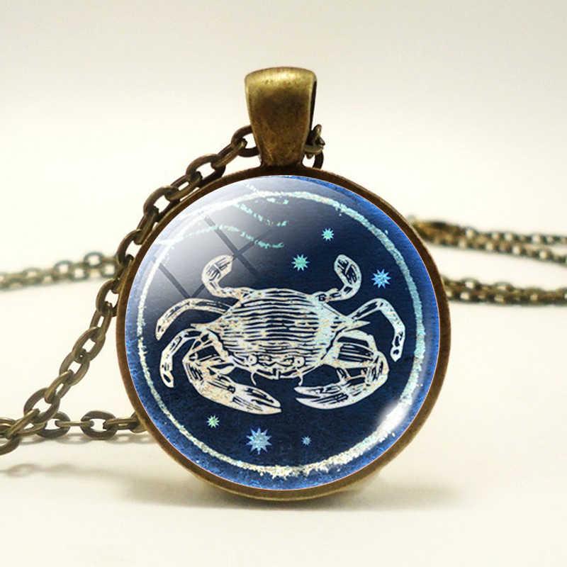 干支星座時間宝石の石のネックレスのペンダントレトロネックレスファッションジュエリーギフト