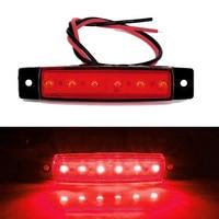 lamp dc 12v Red DC 12V 6 LED Side Marker Light for Trailer Truck Boat BUS Indicator RV Lamp (4)