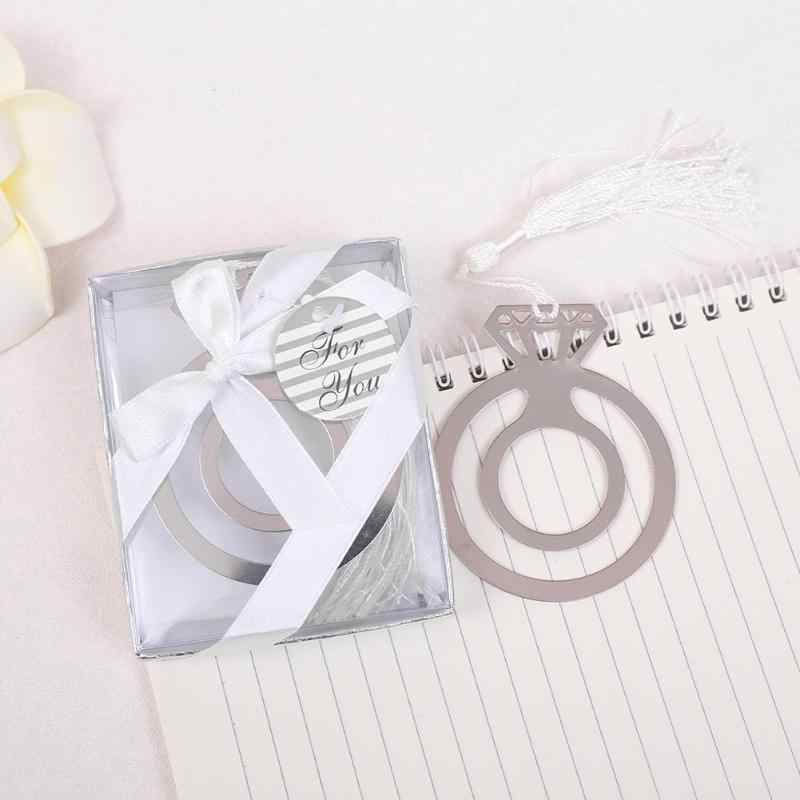 1 Pcs Book Marker Rings Steel Bookmark Wedding Party Child Birthday Supplies Pendant Gift