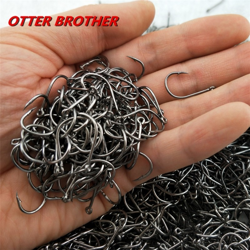 High Carbon Steel Fish Hook Barbed 30PCS 3#-12# Series In Fly Fishhooks Worm Pond Fishing Bait Holder Jig Hole Accessories Pesca(China)