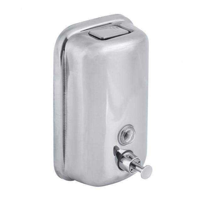 800/1000ML Bathroom Wall Mounted Stainless Steel Liquid Soap Dispenser Hand Shampoo Pump Sanitizer Shower Lotion Dispenser New