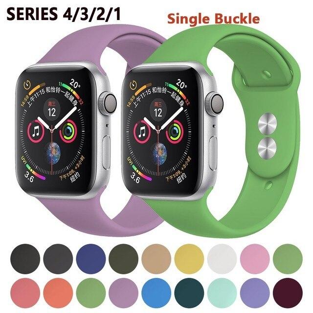 רך רצועת עבור אפל שעון להקת 42mm סדרת 4 3 iwatch להקת 38mm 44mm 40mm pulseira קוראת צמיד smart watch אביזרי לולאה