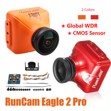 RunCam Aquila 2 Pro Globale WDR OSD Audio 800TVL CMOS FOV 170 Gradi 16:9/4:3 Commutabile FPV Macchina Fotografica Arancione rosso Per RC Drone Parti