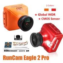 كاميرا RunCam Eagle 2 Pro العالمية WDR OSD Audio 800TVL CMOS FOV 170 درجة 16:9/4:3 قابلة للتبديل FPV كاميرا باللون الأحمر البرتقالي لأجزاء الطائرة بدون طيار RC