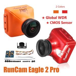 Image 1 - RunCam águila 2 Pro Global WDR OSD Audio 800TVL CMOS FOV 170 grado 16:9/4:3 conmutable FPV Cámara naranja rojo para componentes para drones RC