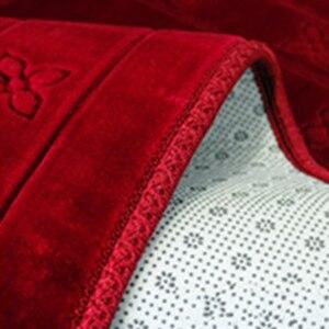 Image 3 - Mode Weich und Bequem Muslimischen Gebet Decke 12mm Dicke Gebet Matte 70x110cm Anti Slip Teppich für raschel Anbetung Teppiche