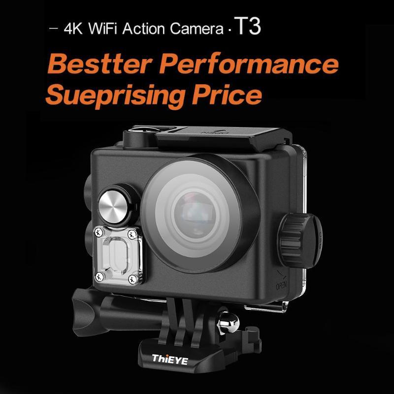 ThiEYE T3 2.0 pouces caméra d'action écran tactile 4 K/24fps 170 degrés sport DV