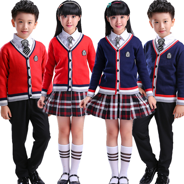 US $29 44 8% OFF|British School Uniform Japanese School Uniform New Year's  Day Children's Chorus Costumes Primary and Middle School Students -in