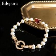 Eilepura Handmade Natural Fresh Water Pearl Colorful Stone Adjustable Bracelet For Women Wedding Jewellery Cufflinks B-A0013