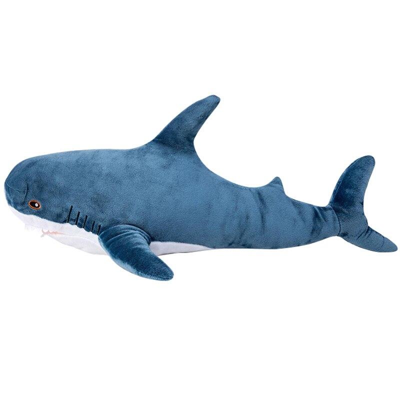 80 cm/100 cm grande taille drôle doux morsure requin en peluche jouet oreiller cadeaux chaud doux apaiser jouets en peluche pour enfants Kawaii peluche requin