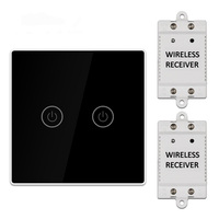 KCASA 1/2/3 Gang AC200 240V Wireless Panel Touch Switch with 2PCS Receiver Kit Remote Control Smart Home Control Module