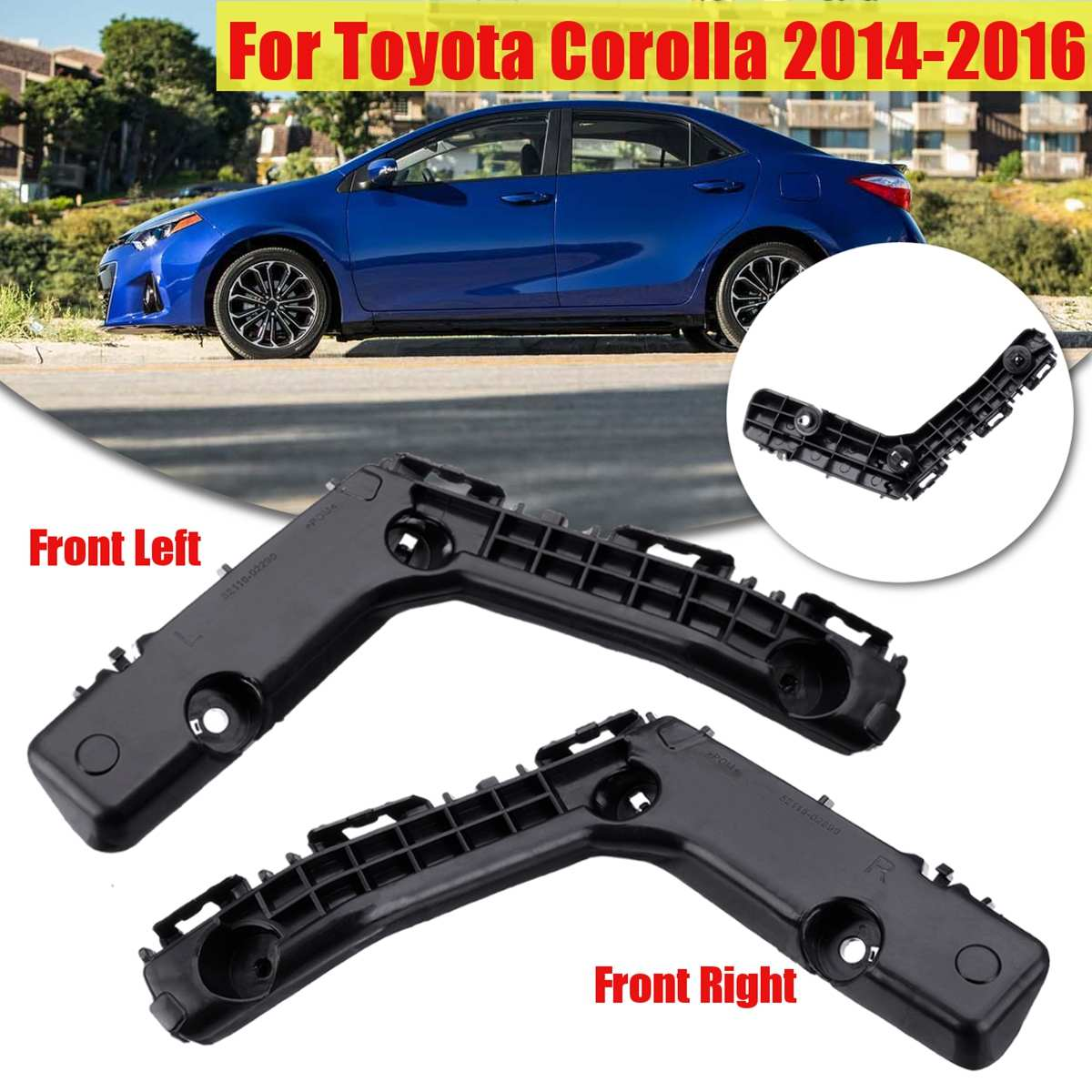 Front Left Right Bumper Spacer Bracket For Toyota Corolla 2014 2015 <font><b>2016</b></font> Black TO1042123 5211602240 image