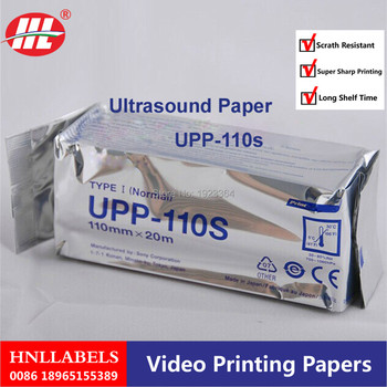 100X Rolls Widely used medical upp 110s 110mm*20m ultrasound thermal paper roll