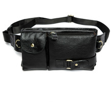 Travel Fanny Pack Leather Belt Waist Bag Phone Hip Pouch Chest Messenger For Man 9080 Men's Genuine Leather Waist Bags