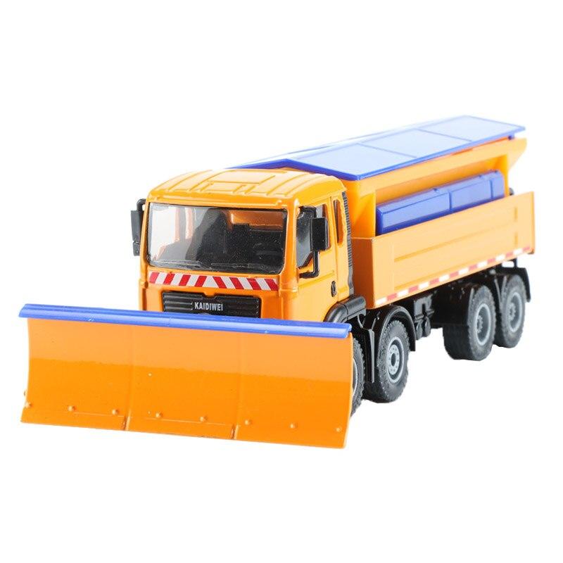 KDW Échelle 1:50 Alliage Neige Propre modèle voiture Jouet Route De Nettoyage Spécial Travail Véhicule Construction Camions Collection jouets pour enfants Cadeau