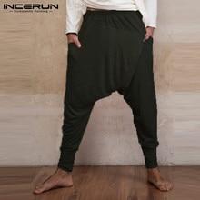 Indian Pants Mens Ninja Pants Baggy Harem Pants Loose Fitness Low Drop Crotch Tr