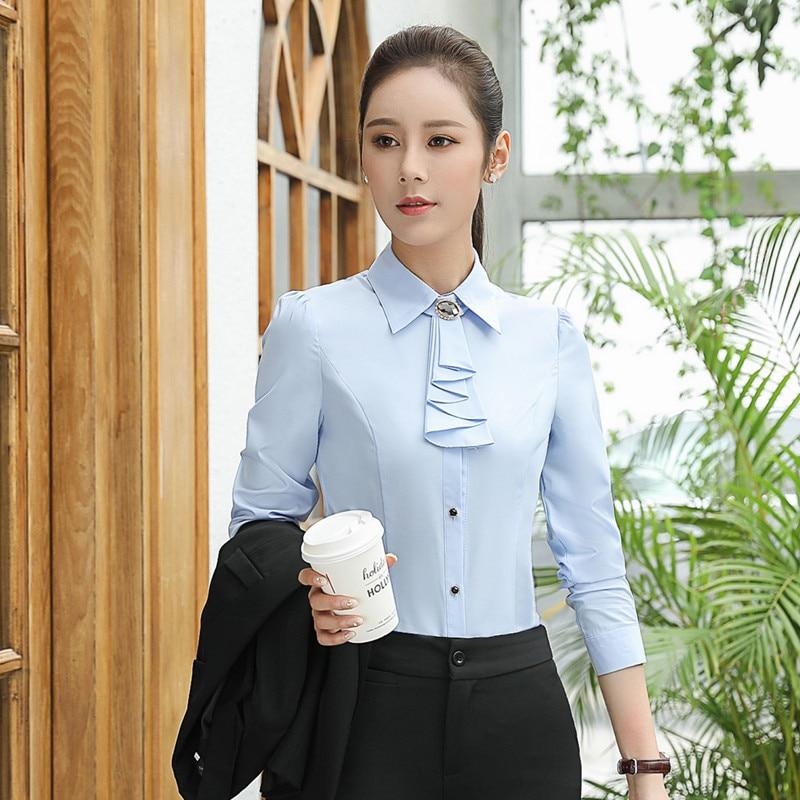 Cocktail Outfit V-neck Top Elegant Tailored Shirt Festival Top Long Sleeve Satin Soft Office Shirt Purple Women/'s Bouffant Ladies Shirt