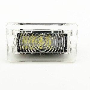 Image 4 - LED blanc Ultra lumineux (lentille transparente) lumière intérieure à haut rendement lampe de porte de voiture Kit de lumière de coffre de flaque deau pour Tesla modèle 3 S X(2 pièces)