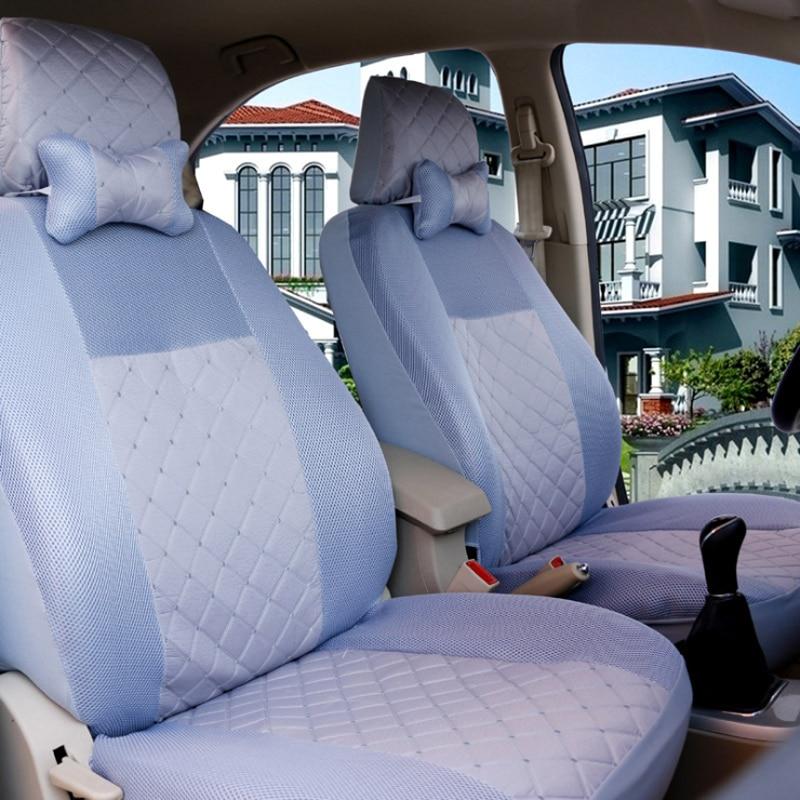 Универсальный чехол для автомобильного сиденья, 1 комплект, дышащие Чехлы на пять сидений, защитная накладка на кресло, подходит для большин...