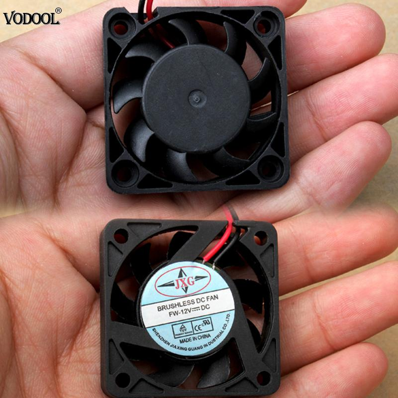 VODOOL 1Pc Black 2 Pins Cooler <font><b>Fan</b></font> DC 12V <font><b>40mm</b></font> Brushless PC <font><b>Fan</b></font> PC Cooler Cooling <font><b>Fan</b></font> PVC Computer Cooling Accessories Brand New image