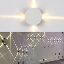 Modern Led Wall Lamp 12W Creative Aisle Round Square Bedroom Bedside Corridor Staircase Hotel Project LED Indoor Light