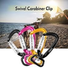 Lixada Swivel Carabiner Clip 360° Rotatable Spinner Auto Locking Rotational Hammock Hanging Key ring