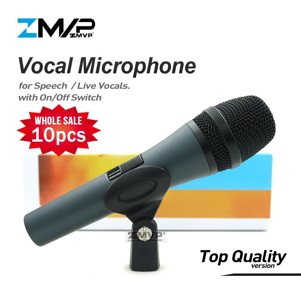 10 stks/partij Top Kwaliteit E845S Professionele Dynamische Super cardioid Live Zang Toespraak Bedrade Microfoon Microfone Microfono Mike Mic-in Microfoons van Consumentenelektronica op  Groep 1