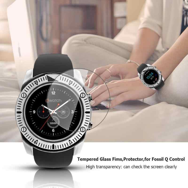 ALLOYSEED 2pcs Tempered Glass Protective Smart Watch Film Wearable Smartwatch Screen Protector for Fossil Q Marshal