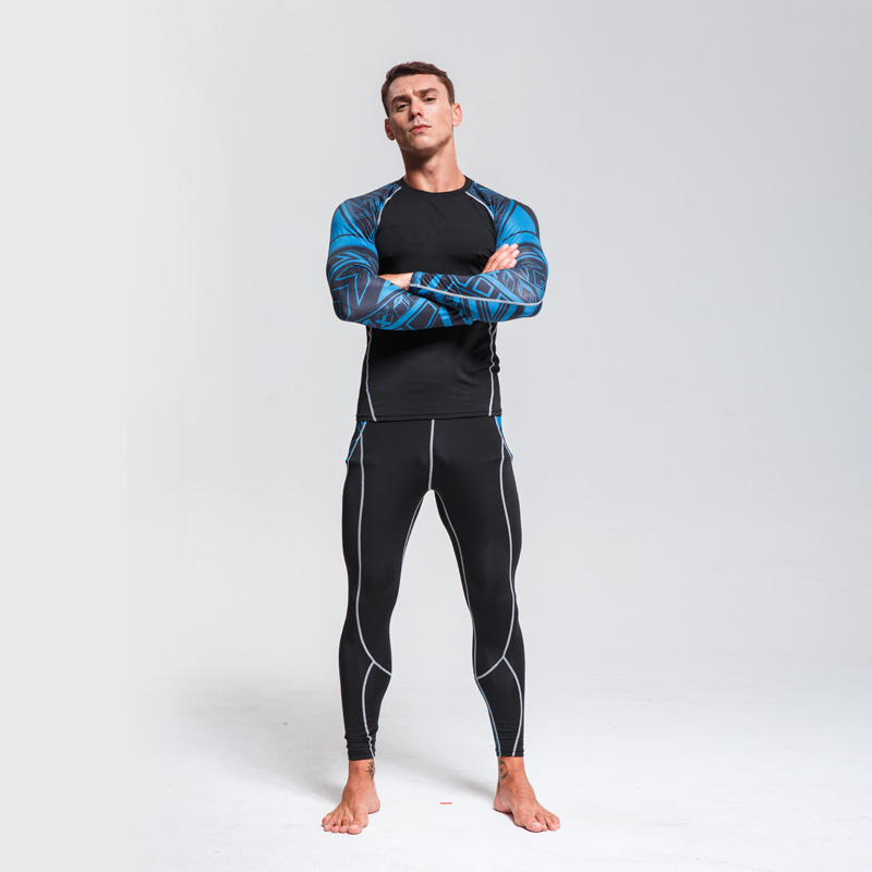 Men's Ski Underwear Set > Winter Thermal Underwear  >Running Quick Drying Tights > Compressed Thermal Underwear Workout Clothes