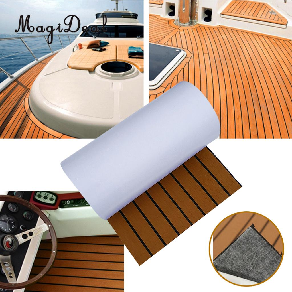 Self-Adhesive 450x2400x6mm EVA Foam Boat Yacht Flooring Teak Decking Sheet Pad Carpet For RV Car Marine Boat Yacht Accessories