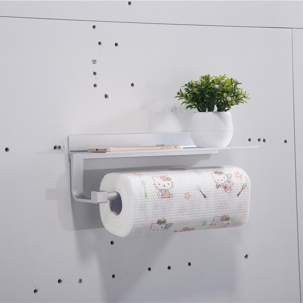 Tissue Holder Multifunctional Wall Mount Aluminum Creative Holder Storage Shelf Rack For Kitchen Toilet Bathroom