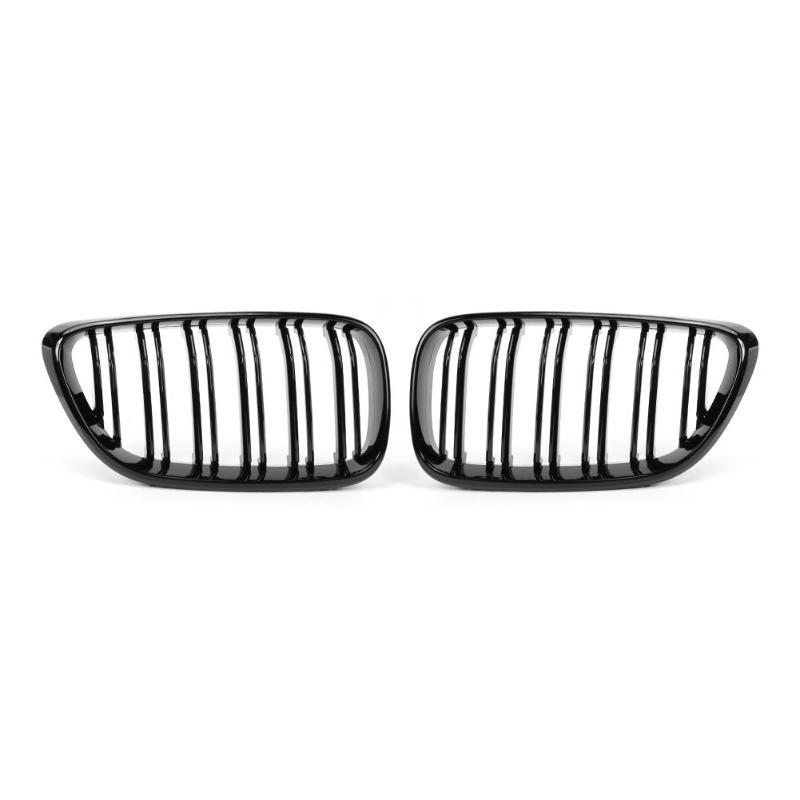 1 Pair Gloss Black Car Front Bumper Kidney Grill Grilles for 2 Series F22 F23 F87