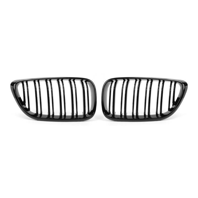1 пара черный глянец передний бампер автомобиля почек гриль решетки для 2 серии F22 F23 F87 M2 стайлинга автомобилей авто аксессуар бампер решетки
