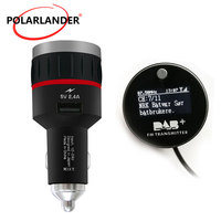 Tuner Receiver FM Transmitter Car DAB Radio Cigarette Lighter With 5V 2.4A A USB Part With Converter Plug and Play Knob